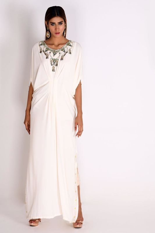 Picture of Ivory Georgette Kaftan