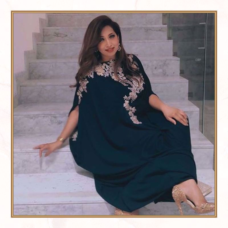Picture of Najia strikes a pose in this stunning kaftan from our luxury pret collection